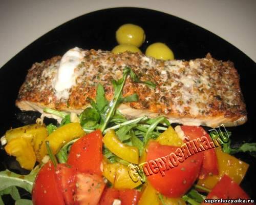рецепты из запеченного лосося в духовке