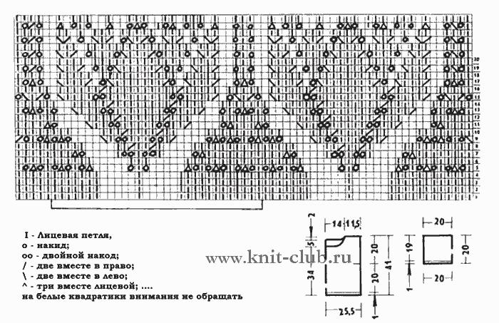 Летние ажурные узоры спицами схемы с описанием