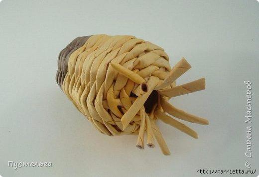 Плетение из газетных трубочек. Птичка СИНИЧКА (11) (520x355, 70Kb)
