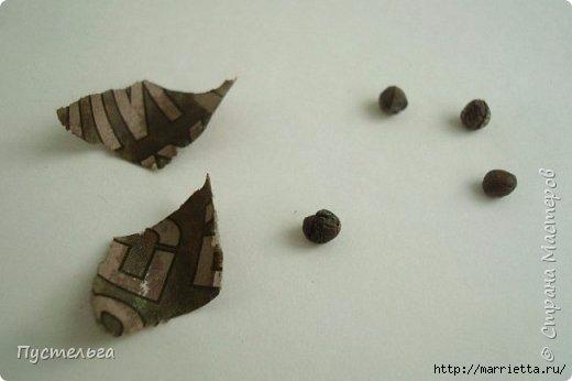 Плетение из газетных трубочек. Птичка СИНИЧКА (23) (520x346, 62Kb)