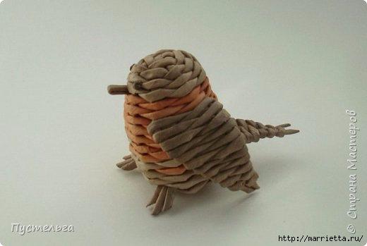 Плетение из газетных трубочек. Птичка СИНИЧКА (28) (520x349, 62Kb)