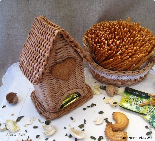 Плетение чайного домика из газетных трубочек (520x473, 190Kb)