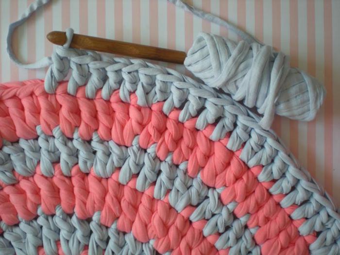 Трикотажные нитки для вязания ковриков цена 1