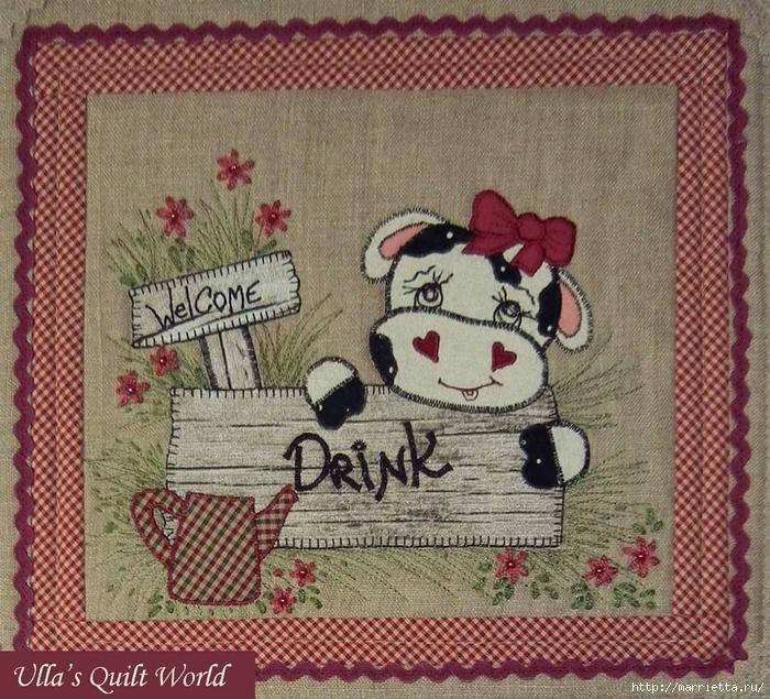 Лоскутные панно с коровками (1) (700x635, 457Kb)