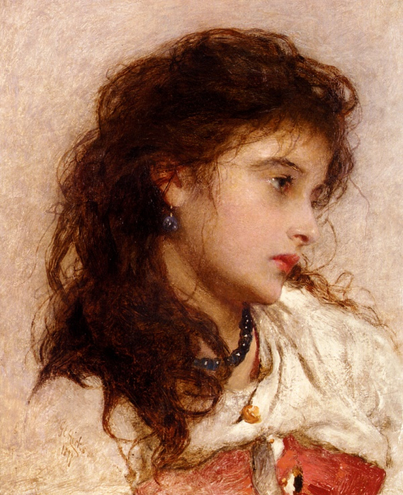 1423823456-george-elgar-hicks-a-gypsy-girl (569x700, 504Kb)