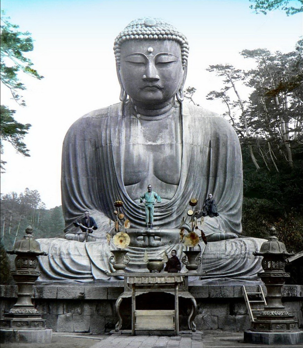 Большой Будда в Камакуре (610x700, 450Kb)