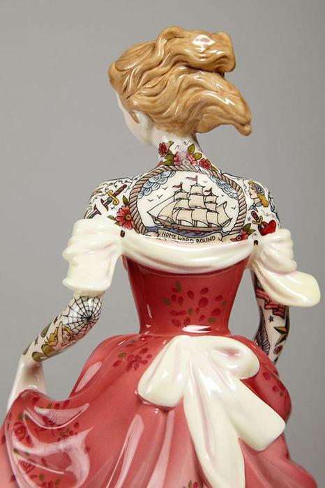 Татуированные девушки викторианской эпохи