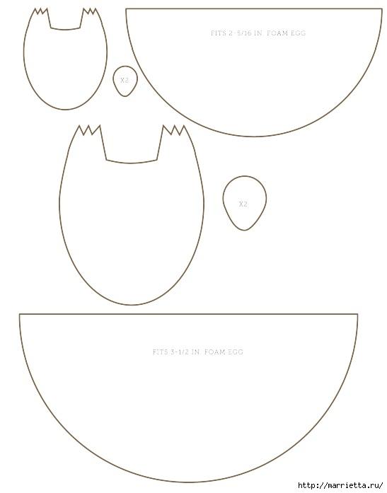 Ежики из фетра и пенопластового яйца (9) (547x697, 64Kb)