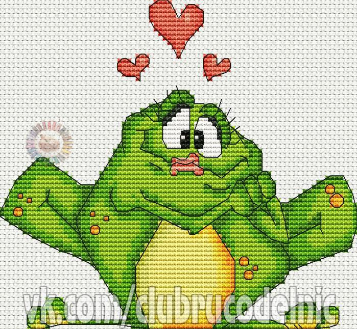Влюбленная лягушка (700x646, 703Kb)