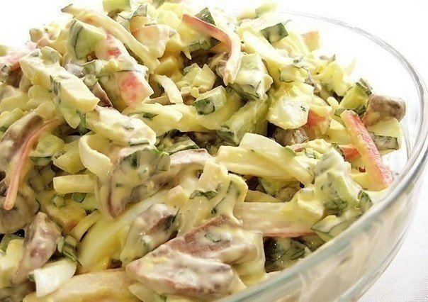 салат с грибами (604x426, 233Kb)