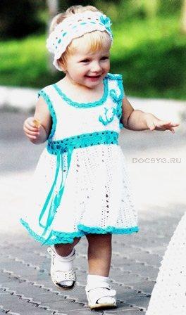 платье для девочки вязанное крючком (264x448, 101Kb)