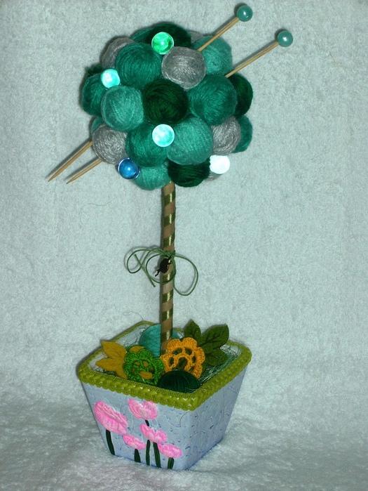 Дерево из клубочков своими руками 73