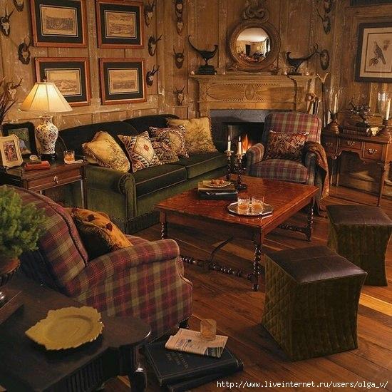 Lodge living room decor
