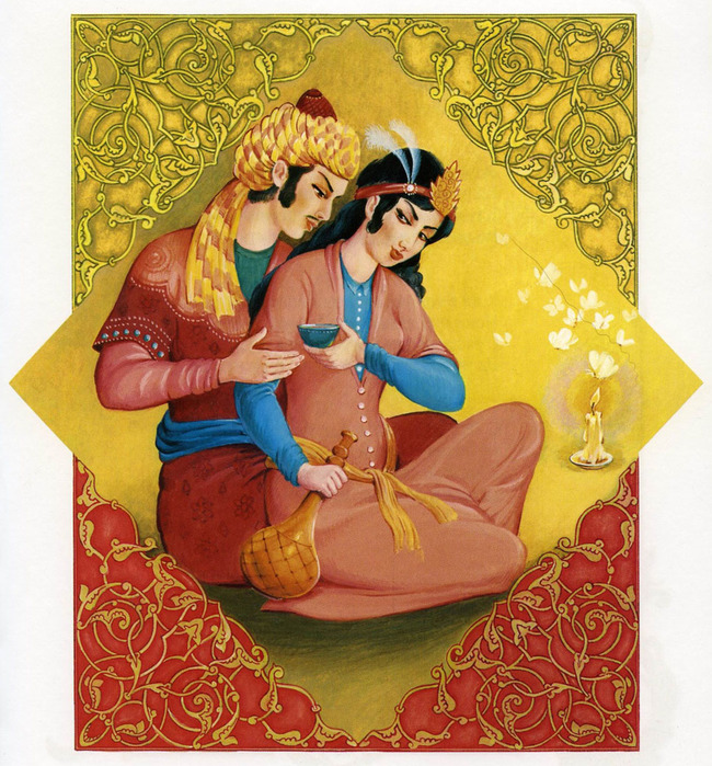 world-most-beautiful-romantic-raja-rani-king-queen-old-age-paintings (650x700, 224Kb)
