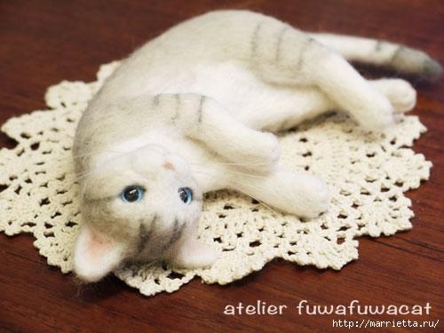 кошки - валяние из шерсти (3) (500x375, 111Kb)