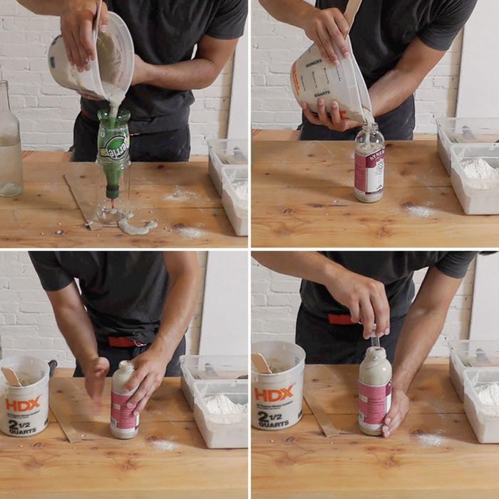 Как сделать дырку из стеклянной бутылки 6
