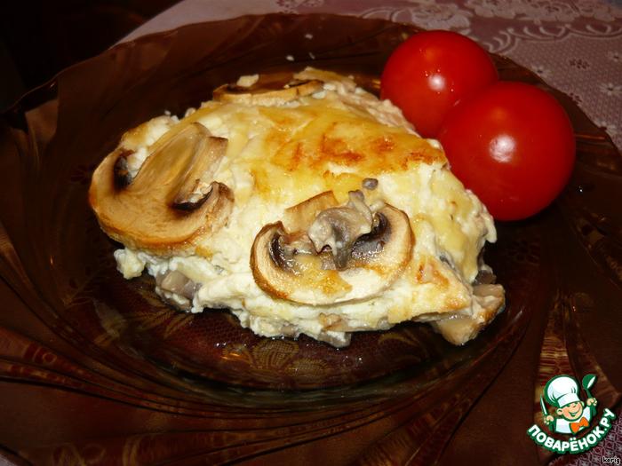 суфле с грибами