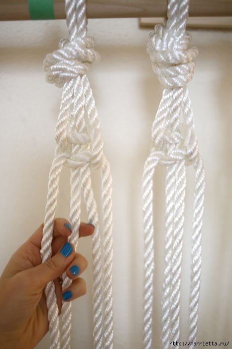 Занавеска из веревки в технике макраме (3) (466x700, 181Kb)