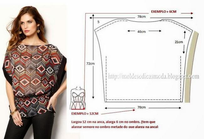 Сшить блузку и выкройки для полных