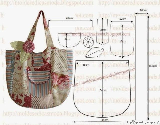Летние сумки своими руками - выкройки (640x501, 158Kb)