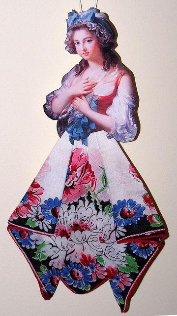 Винтажные открытки с дамами в юбках из носовых платков (8) (360x640, 212Kb)