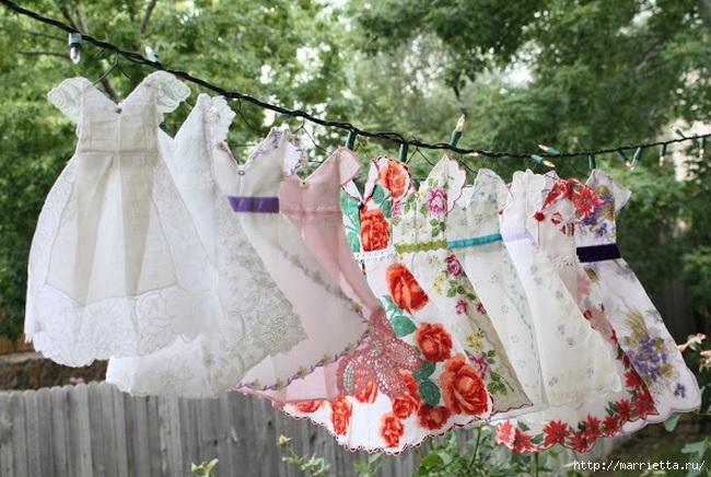Винтажные открытки с дамами в юбках из носовых платков (18) (650x436, 223Kb)