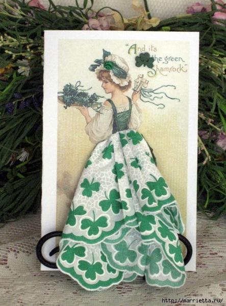 Винтажные открытки с дамами в юбках из носовых платков (22) (443x598, 194Kb)