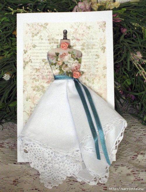 Винтажные открытки с дамами в юбках из носовых платков (36) (500x656, 243Kb)