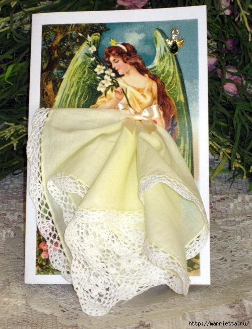 Винтажные открытки с дамами в юбках из носовых платков (42) (500x653, 235Kb)