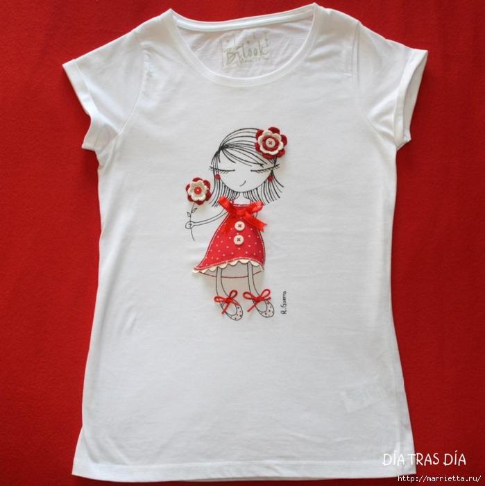 Аппликация с вышивкой на детских футболках (22) (699x700, 257Kb)