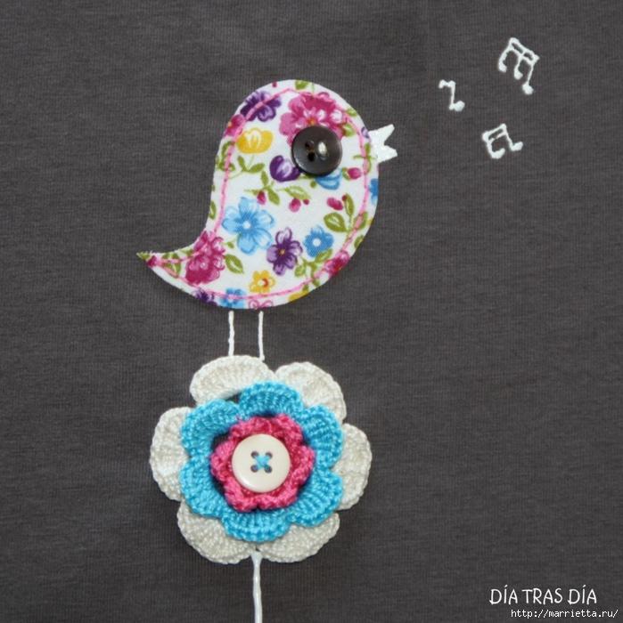 Аппликация с вышивкой на детских футболках (30) (699x700, 311Kb)
