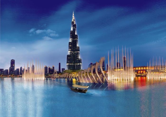 самый большой фонтан в мире дубай 1 (700x495, 328Kb)