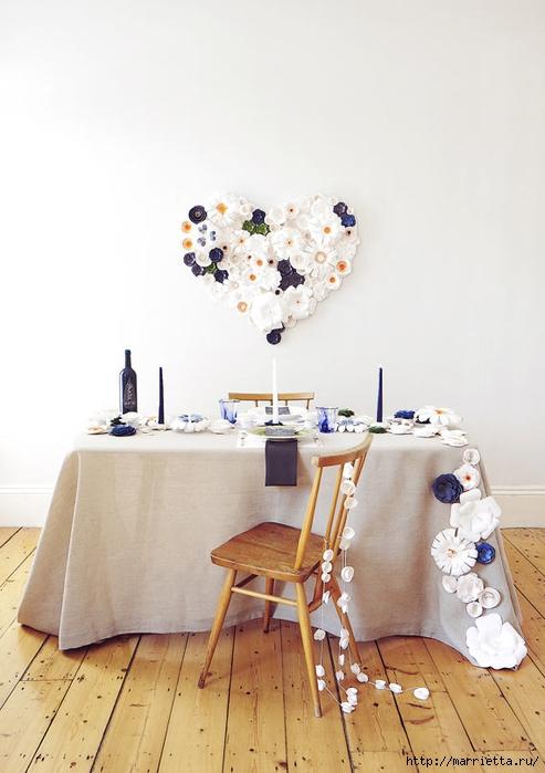 Красивая идея оформления бумажными цветами свадебного торжества (13) (493x700, 186Kb)