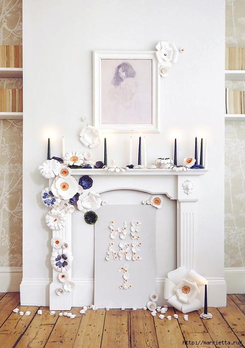 Красивая идея оформления бумажными цветами свадебного торжества (15) (493x700, 212Kb)