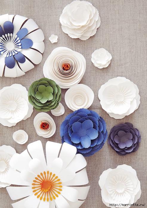 Красивая идея оформления бумажными цветами свадебного торжества (17) (493x700, 294Kb)