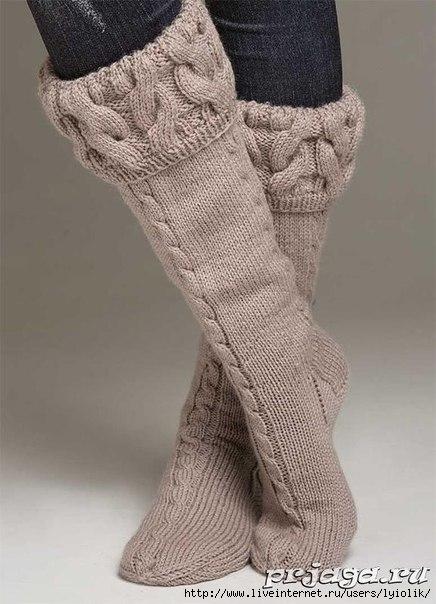 Теплые носки выполнены с