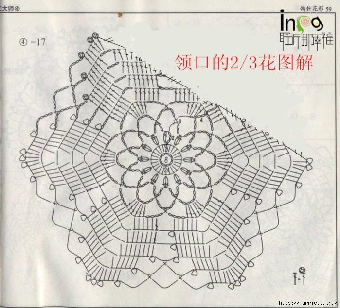 Летнее платье или длинная туника из ажурных мотивов (14) (700x634, 320Kb)