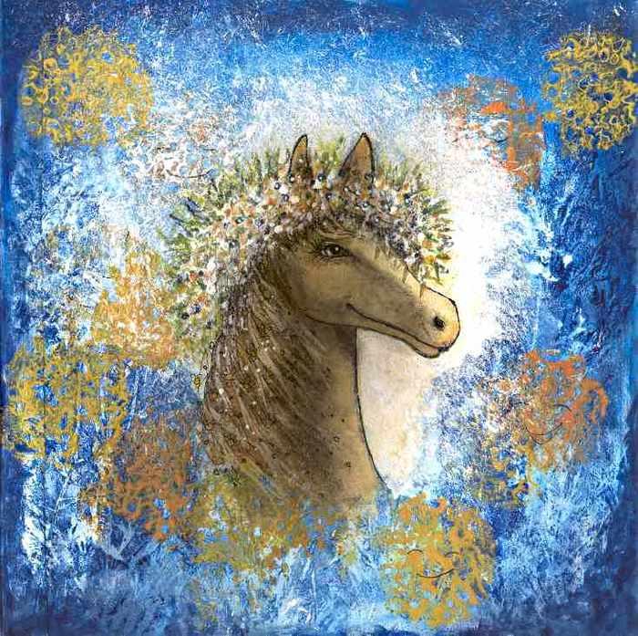 лошадка в веночке 2 сжатый (700x697, 92Kb)