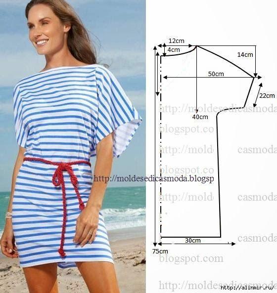 Пляжное платье сшить быстро и просто 549