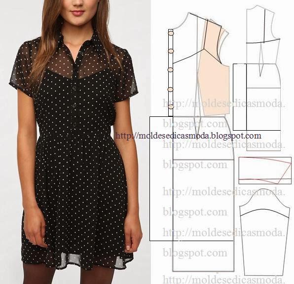 Платье из вискозы без выкройки своими руками