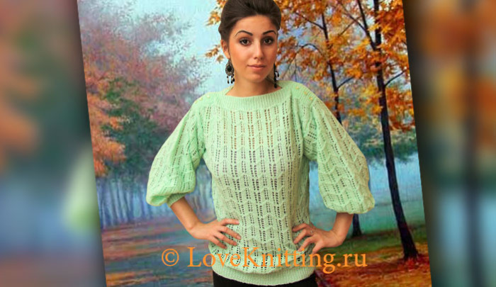 Пуловер С Вырезом Лодочка