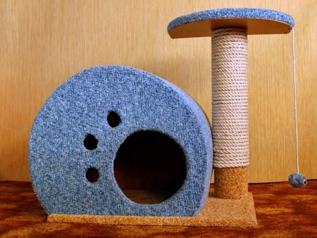 Как сделать для кошек когтеточки