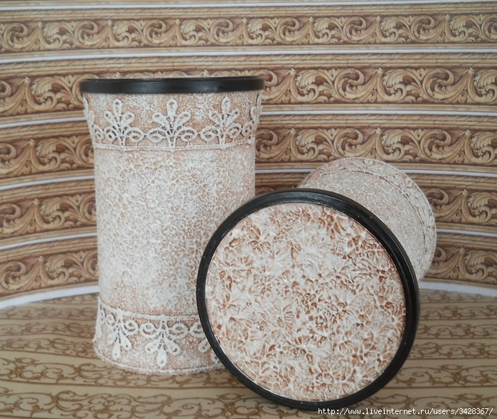 Декор банок из-под кофе