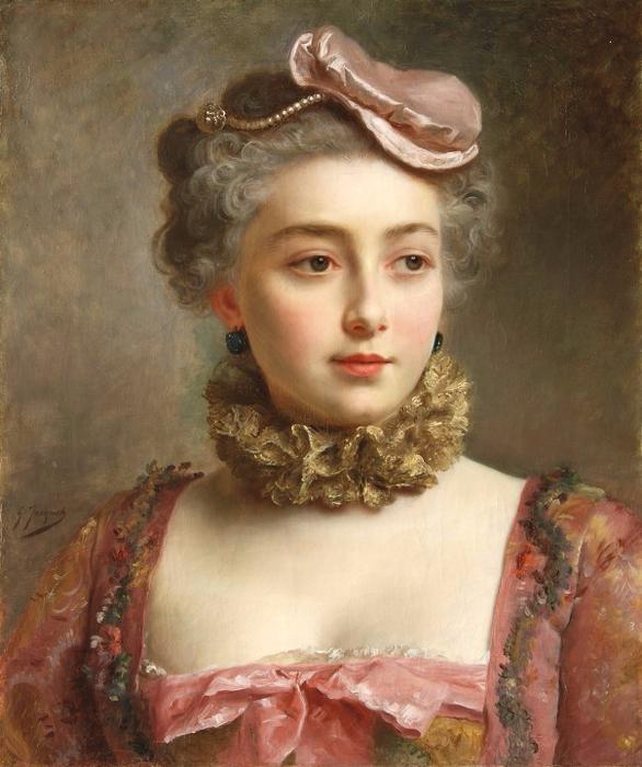 PORTRAIT DE JEUNE FEMME (586x700, 406Kb)