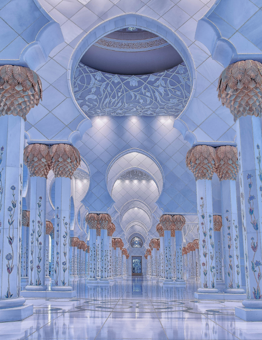 Gold and Blue - The Mosque (539x700, 521Kb)