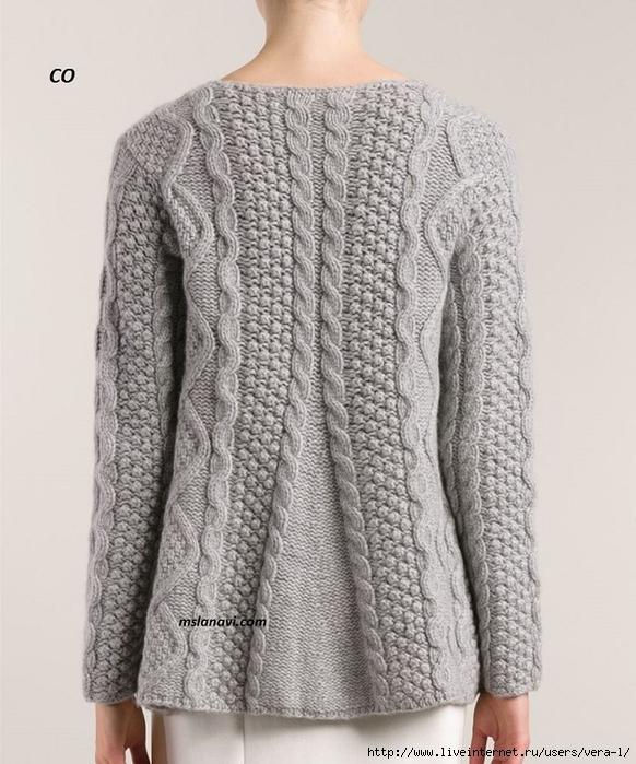 Вязаный-свитер-спицами-от-СО-3 (582x700, 274Kb)