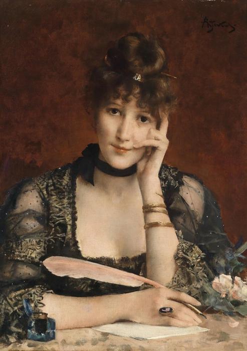 Alfred Stevens (1823-1906) РџРёСЃСЊРјРѕ (493x700, 336Kb)