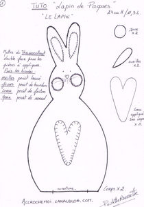 Пасхальные зайцы примитивы. Выкройка (4) (210x300, 42Kb)