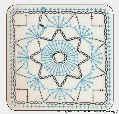 Мотивы подушки крючком схемы