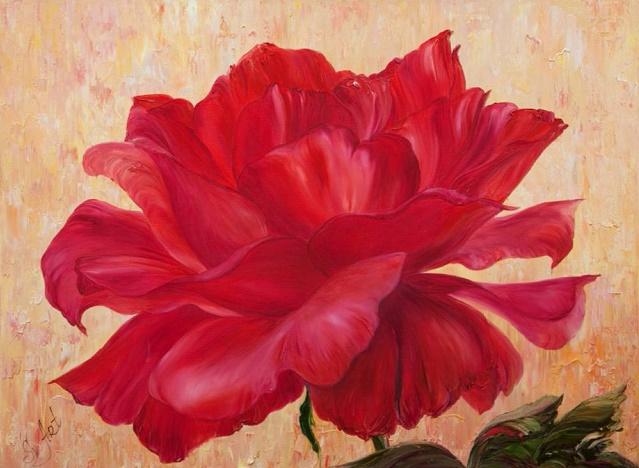 Алая роза. Скарлет (639x468, 297Kb)